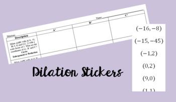 Dilation Stickers