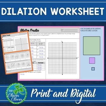 Dilation Worksheet   Teachers Pay Teachers