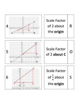Dilations (About the Origin & Vertex) 8G3