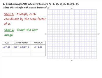 Dilations Smartboard Lesson - Common Core Aligned