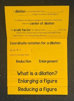 Dilations (Geometry Foldable)