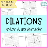 Dilations Guided Notes and Worksheet