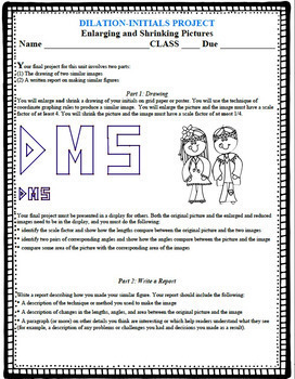 Dilations Initials Project - Project Based Learning