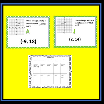 Dilations Lesson Sample from Transformations Unit