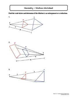 Dilations (Lesson with Homework)