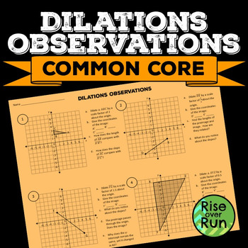 Dilations Observations Worksheet
