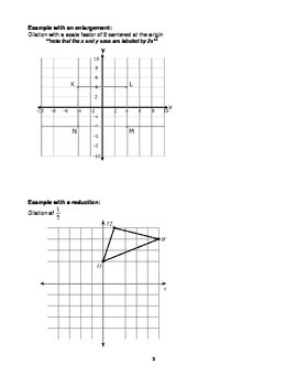 Dilations Packet