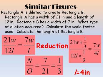 Dilations & Scale Factor Interactive Journal with Powerpoint lesson