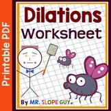 Dilations Scale Factor Worksheet