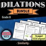 Dilations Worksheet Bundle