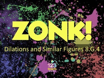 Dilations and Similar Figures ZONK Review Game Show for Co