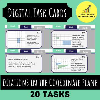 Dilations in the Coordinate Plane Digital Task Cards (Google Slides)