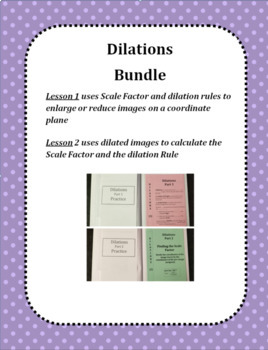 Dilations on a Coordinate Plane (BUNDLE) for Interactive Notebooks