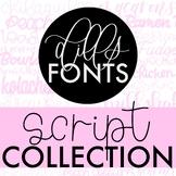 Dills Fonts - Cursive Fonts Set