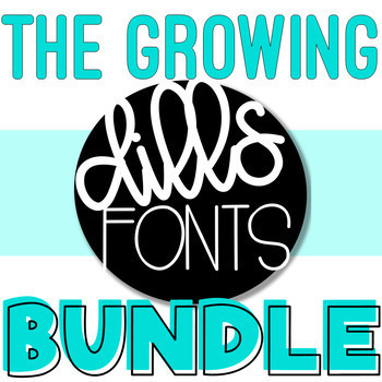 Dills Fonts - Growing Bundle