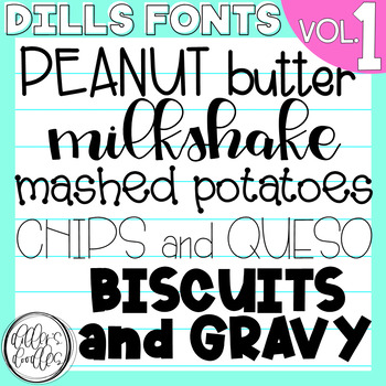 Dills Fonts - Volume 1