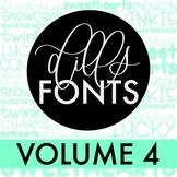 Dills Fonts - Volume 4