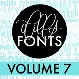 Dills Fonts - Volume 7