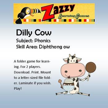 Dilly Cow Folder Game for Vowel Diphthong ow