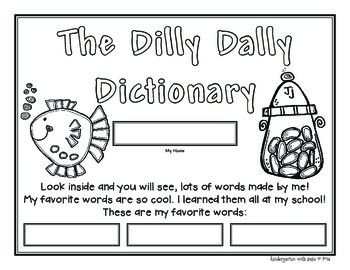 Kindergarten Dilly Dally Dictionary