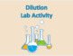 Dilution of Solutions Activity