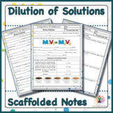 Dilution of Solutions Scaffolded Notes