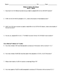 Dilutions Practice Worksheet
