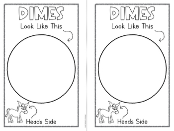 Coin Identification Book - Dime