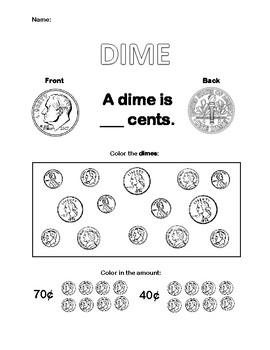 Dime Worksheet