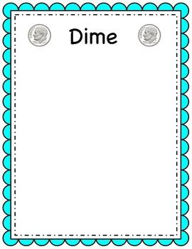 Dime sorting mat (coin sorting mats)