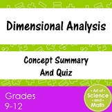Dimensional Analysis - High School Science and Math