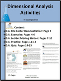 Dimensional Analysis Activities