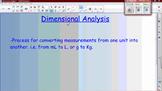 Dimensional Analysis Basic Lesson