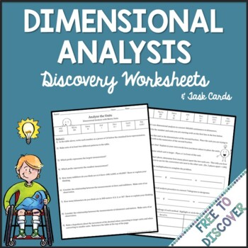 Dimensional Analysis Activities - Discovery Worksheets and Task Cards