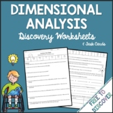 Dimensional Analysis Activities - Discovery Worksheets and