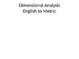 Dimensional Analysis English to Metric