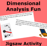 Dimensional Analysis Fun Intro Jigsaw Activity