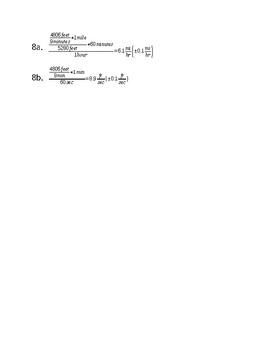 Dimensional Analysis Homework