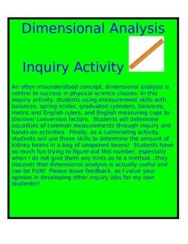Dimensional Analysis Inquiry Activity