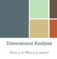 Dimensional Analysis Lesson Resources