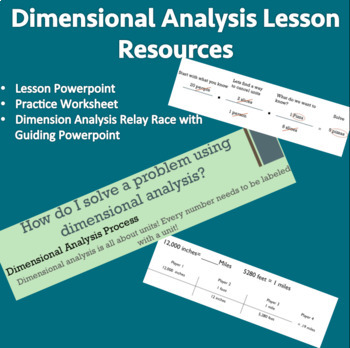 Dimensional Analysis Powerpoint and Lesson Resources