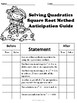 Quadratic Equations (Square Root Method) No Prep Lesson