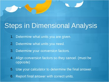 Dimensional Analysis PowerPoint