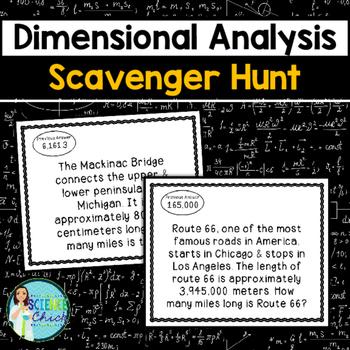Dimensional Analysis Scavenger Hunt