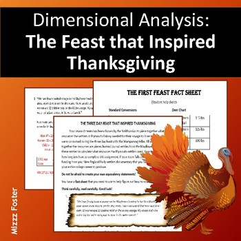 Dimensional Analysis: The Feast That Inspired Thanksgiving