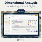 Dimensional Analysis Activity - Print & Digital   Digital Resource