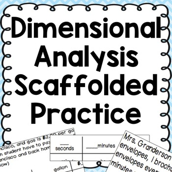 Dimensional Analysis Word Problems