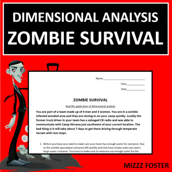 Dimensional Analysis: Zombie Survival