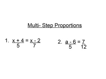 Dimensional Analysis and Proportions SmartBoard MiniLesson