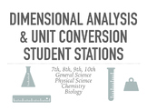 Dimensional Analysis and Unit Conversion Practice Stations